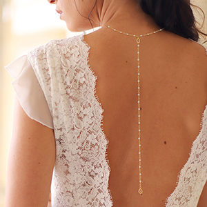 collier de dos robe de mariée