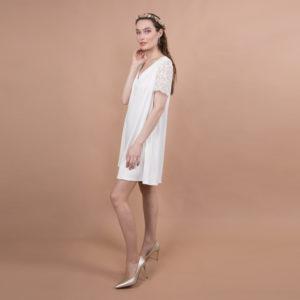 robe de mariée civile courte dentelle