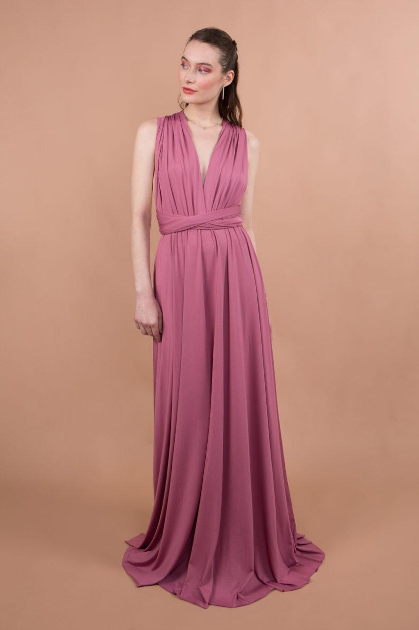 robe d'invitée mariage, demoiselle d'honneur en tissus extensible